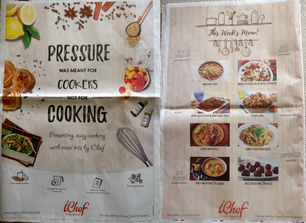 iChef Meal Kits Ads – Food for thought?